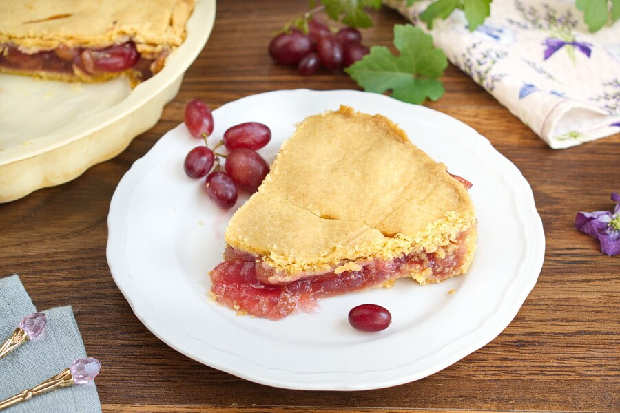 Ruby Grape Pie recipe-Ruby Red Grape Pie-How to make Ruby Grape Pie