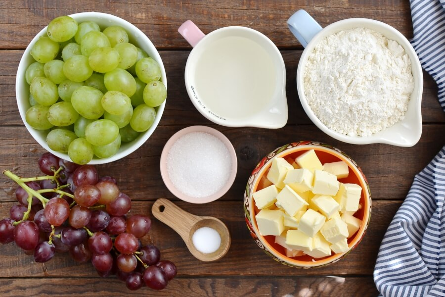 Ingridiens for Rustic Grape Tarts