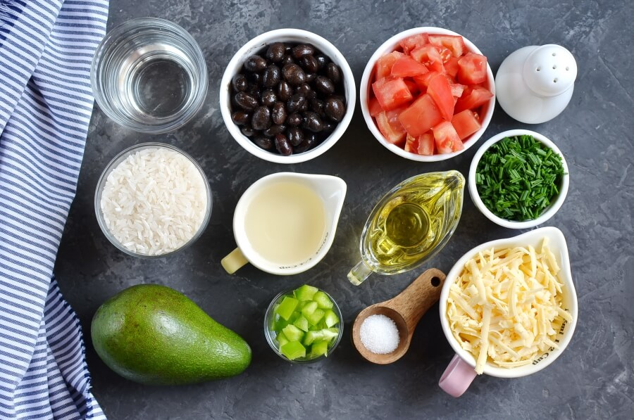 Ingridiens for Santa Fe Rice Salad