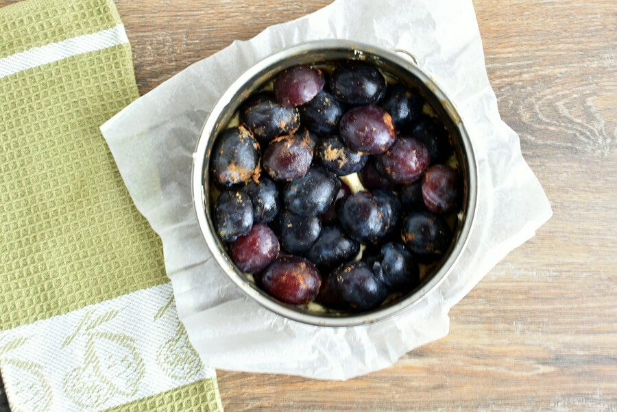 Spiced Plum Custard Cake recipe - step 5