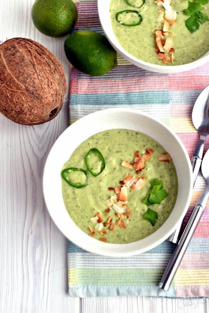 Keto Spicy Avocado-Cucumber Soup