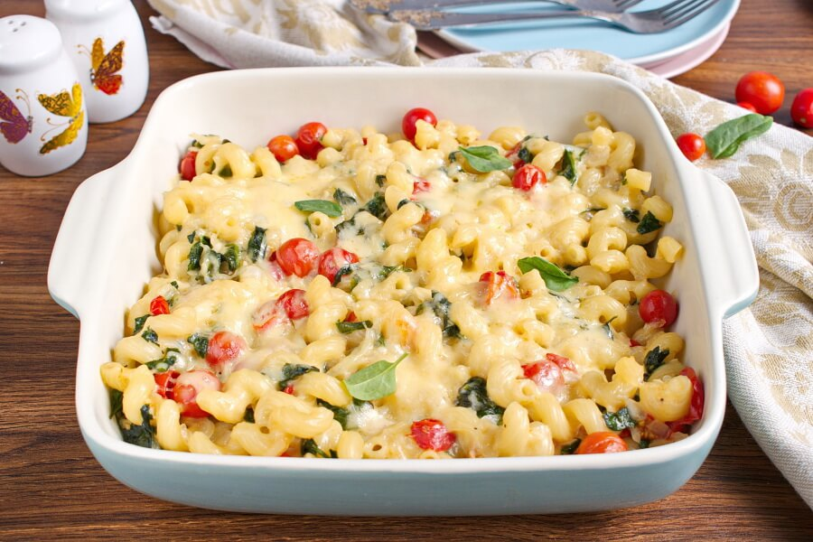 Spinach-Tomato Macaroni & Cheese recipe - step 11