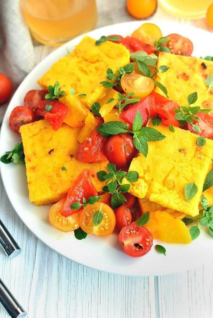 Sweet-Corn-Polenta-Tomato-Salad-Recipe-How-to-make-Sweet-Corn-Polenta-with-Tomato-Salad-Delicious-Sweet-Corn-Polenta-with-Tomato-Salad