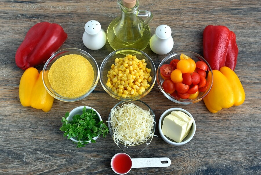Sweet Corn Polenta with Tomato Salad Recipe-How to make Sweet Corn Polenta with Tomato Salad-Delicious Sweet Corn Polenta with Tomato Salad
