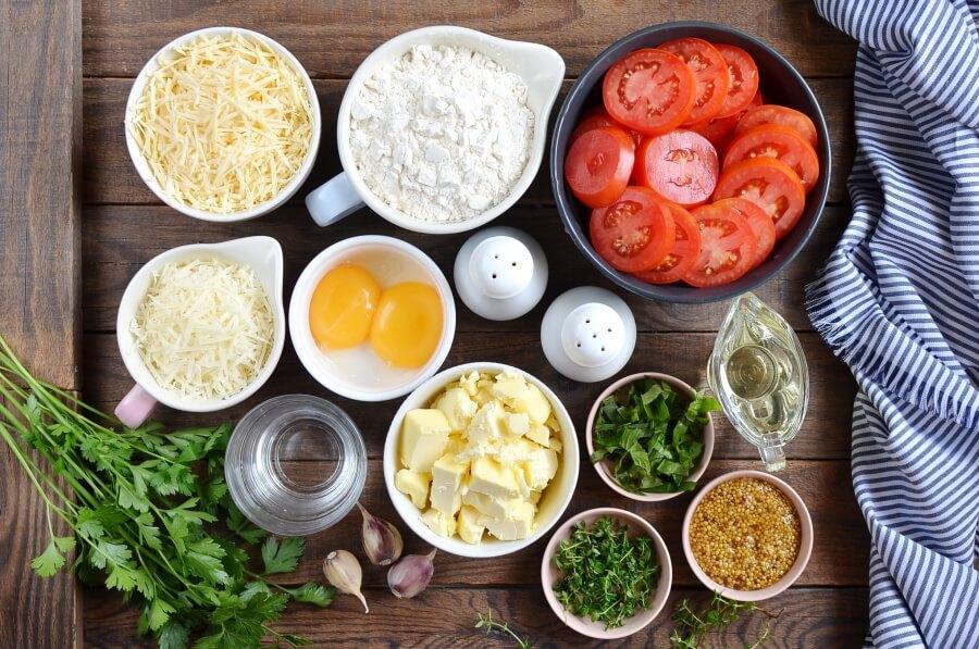 Tomato Tart Recipe-How To Make Tomato Tart-Delicious Tomato Tart