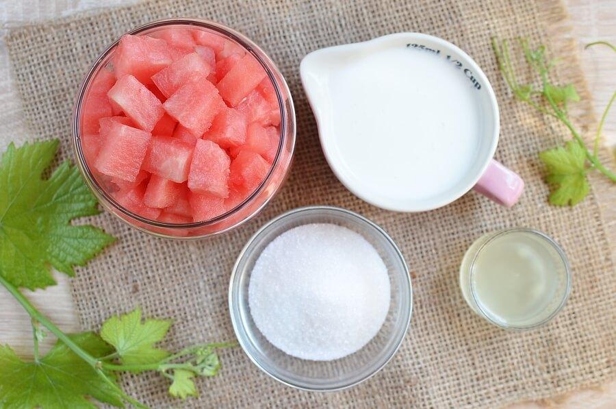 Ingridiens for Watermelon Yogurt Popsicles