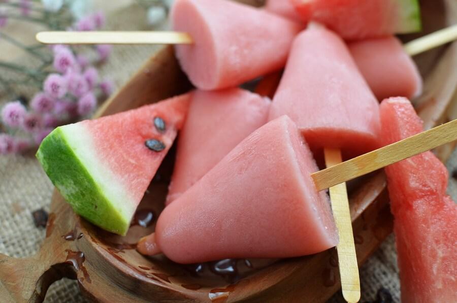 How to serve Watermelon Yogurt Popsicles