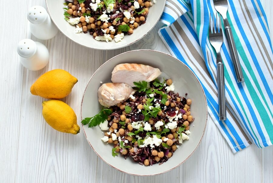 How to serve Wild Rice and Feta Salad