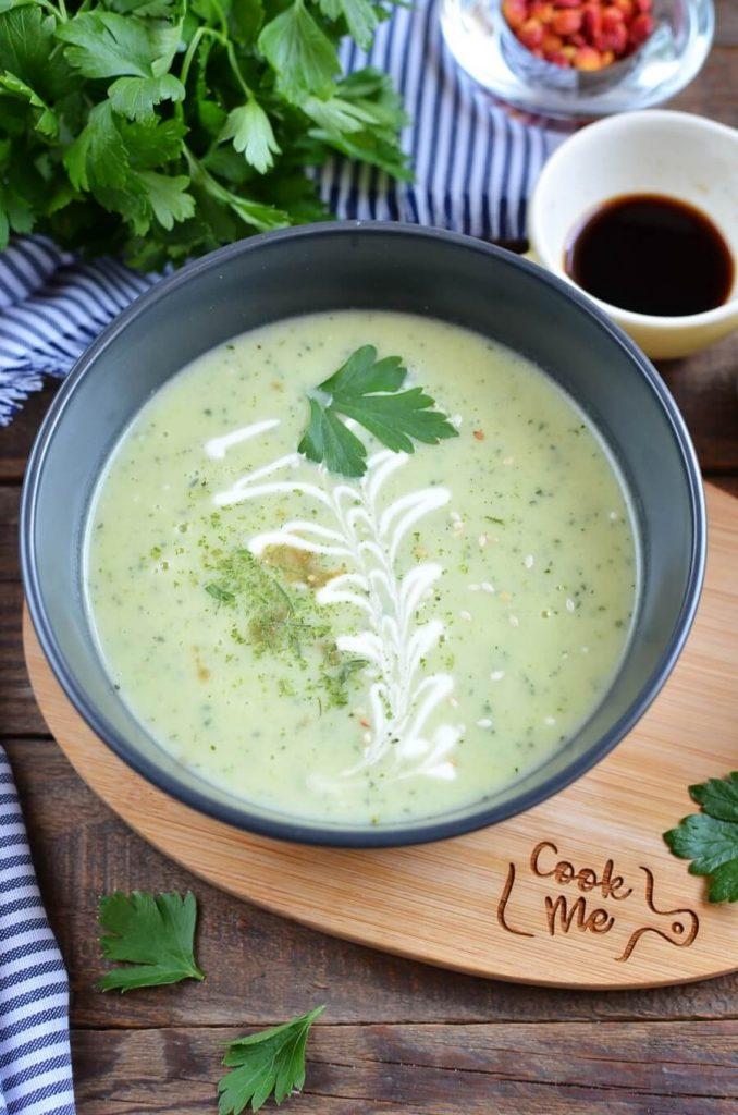 Zucchini Soup with Crеme Fraiche Recipe-How To Make Zucchini Soup with Crеme Fraiche-Delicious Zucchini Soup with Crеme Fraiche