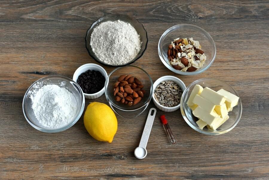 Ingridiens for Almond Shortbread Owls
