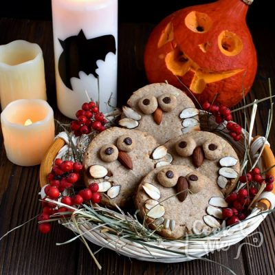 Almond Shortbread Owls Recipe-How To Make Almond Shortbread Owls-Delicious Almond Shortbread Owls