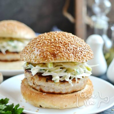 Apple Chicken Burgers and Slaw Recipe-How To Make Apple Chicken Burgers and Slaw-Homemade Apple Chicken Burgers and Slaw