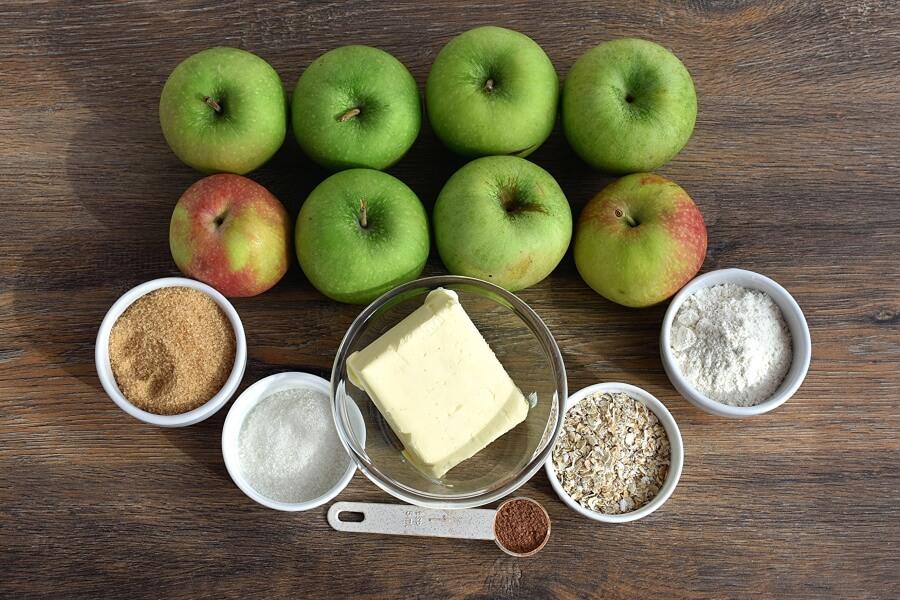 Ingridiens for Apple Crisp Stuffed Baked Apples