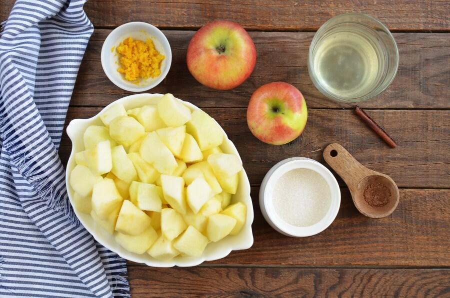Ingridiens for Apple Jam