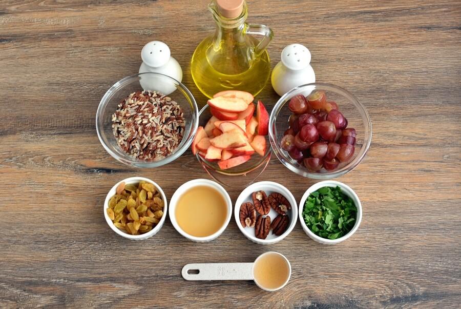 Ingridiens for Apple-Wild Rice Salad