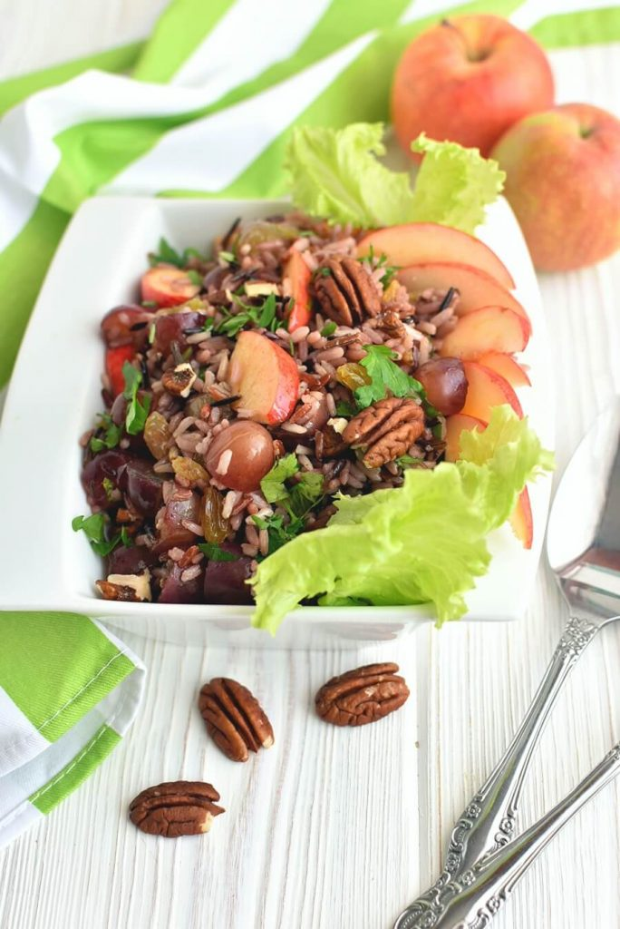 Apple-Wild Rice Salad Recipe-How To Make Apple-Wild Rice Salad-Delicious Apple-Wild Rice Salad