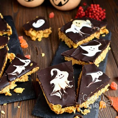 BOO! Chocolate Peanut Butter Bars Recipe-How To Make BOO! Chocolate Peanut Butter Bars-Delicious BOO! Chocolate Peanut Butter Bars
