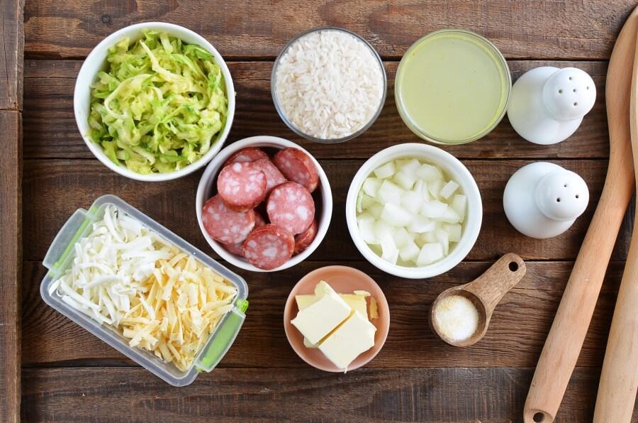 Cheesy Sausage Zucchini Rice Skillet Recipe-How To Make Cheesy Sausage Zucchini Rice Skillet-Delicious Cheesy Sausage Zucchini Rice Skillet