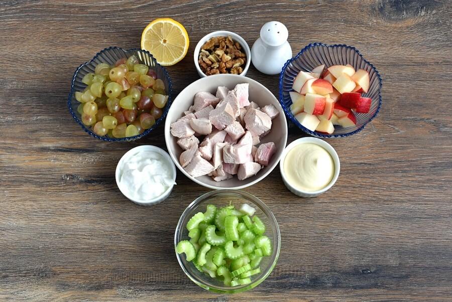 Ingridiens for Chicken Waldorf Salad