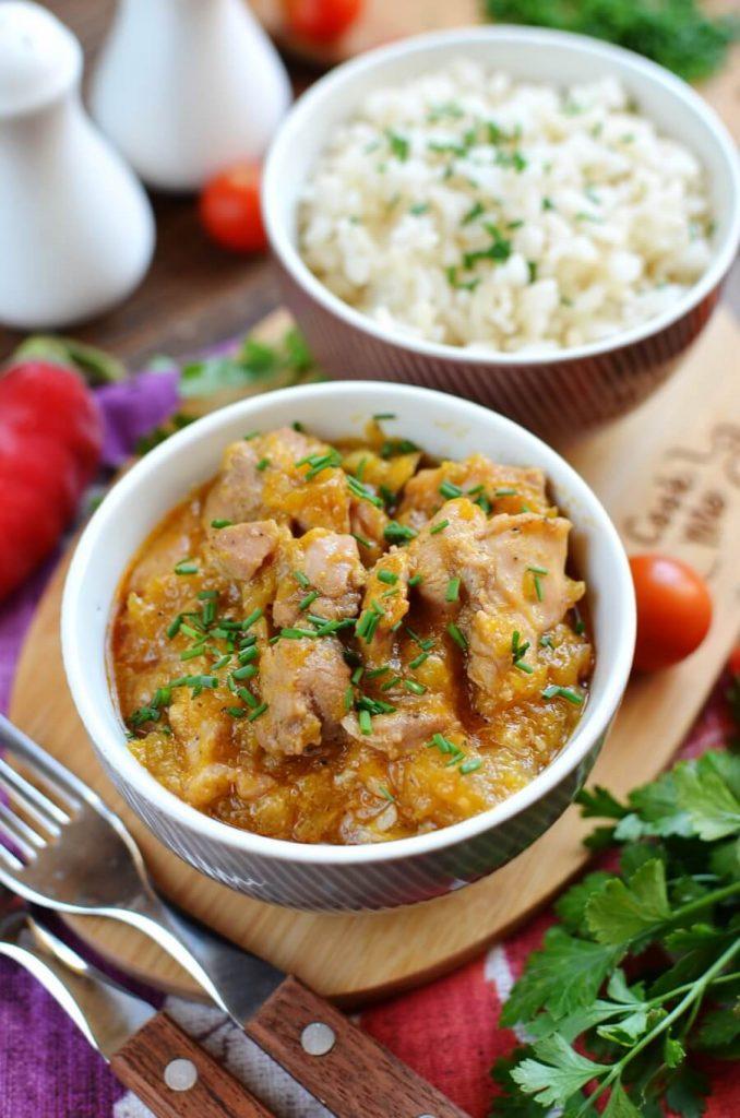 Chicken and Pumpkin Stew Recipe-How To Make Chicken and Pumpkin Stew-Homemade Chicken and Pumpkin Stew