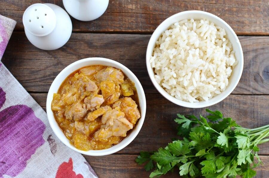 How to serve Tasty Chicken and Pumpkin Stew