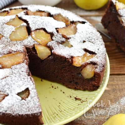 Chocolate Pear Cake Recipe-How To Make Chocolate Pear Cake-Homemade Chocolate Pear Cake