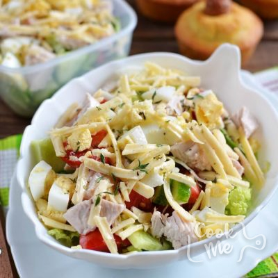 Chopped Chef's Salad Recipe-How To Make Chopped Chef's Salad-Delicious Chopped Chef's Salad