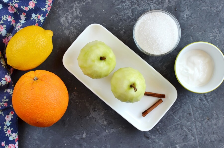 Ingridiens for Citrus-Poached Pears