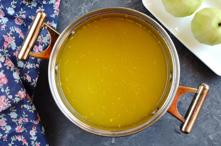Citrus-Poached Pears recipe - step 1