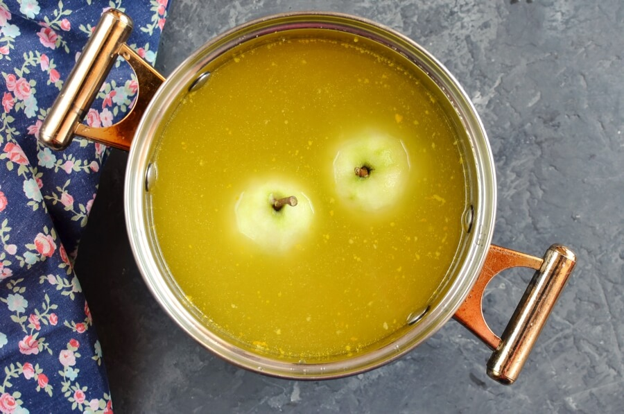 Citrus-Poached Pears recipe - step 2