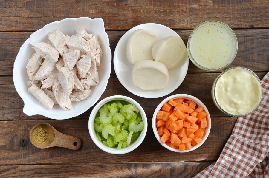 Ingridiens for Easy Chicken and Dumplings