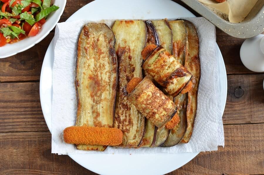 Eggplant & Mozzarella Stick Roll-Ups recipe - step 7