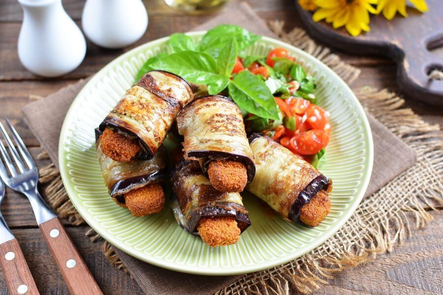 Eggplant & Mozzarella Stick Roll Recipe-Ups-How To Make Eggplant & Mozzarella Stick Roll-Ups-Delicious Eggplant & Mozzarella Stick Roll-Ups