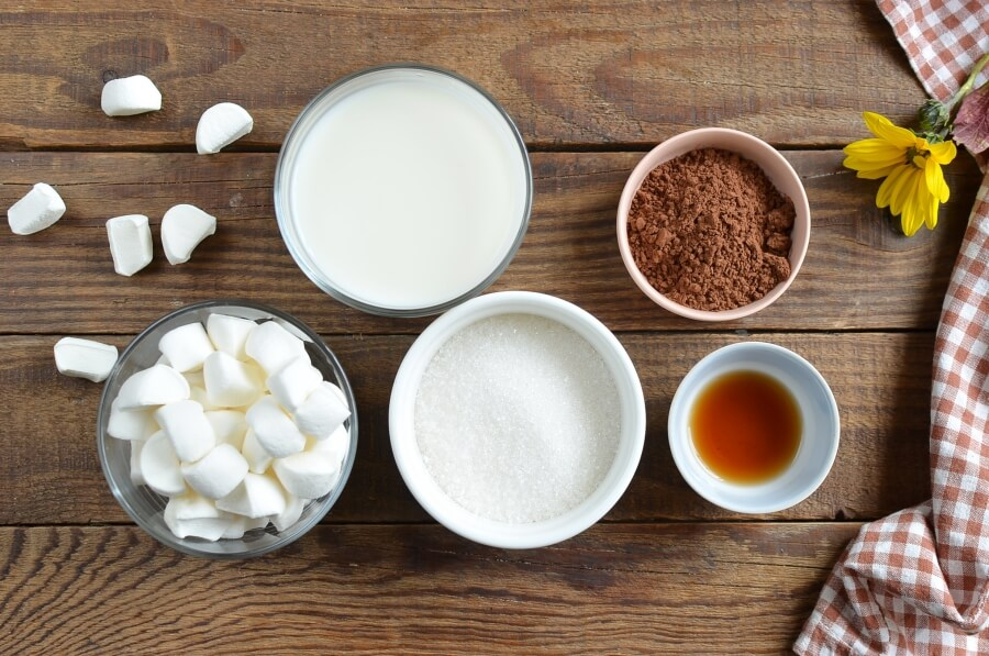 Ingridiens for Fluffy Hot Chocolate