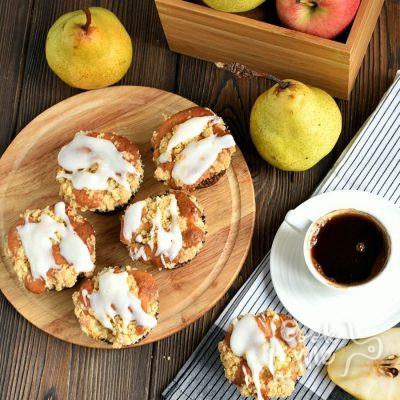 Fresh Apple-Pear Cupcakes Recipe-How To Make Fresh Apple-Pear Cupcakes-Delicious Fresh Apple-Pear Cupcakes