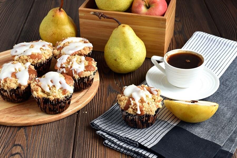 Fresh Apple-Pear Cupcakes Recipe-How To Make Fresh Apple-Pear Cupcakes-Delicious Fresh Apple-Pear Cupcakes