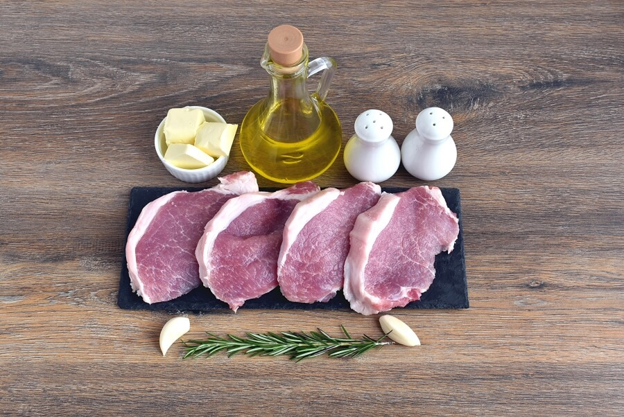 Ingridiens for Garlic and Rosemary Pork Chops