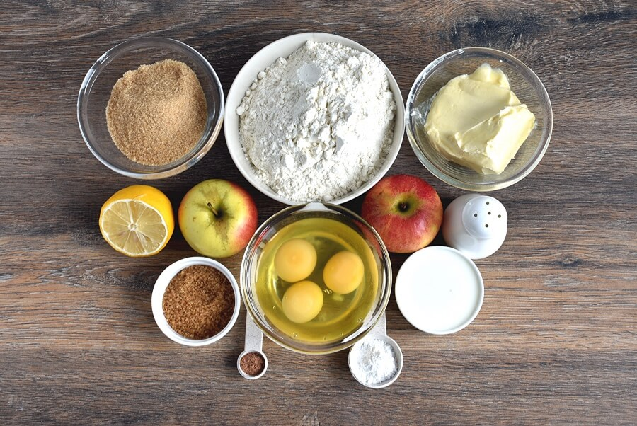 Ingridiens for German Apple Cake