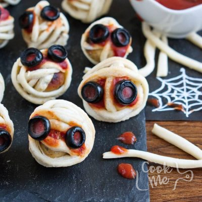Meatball Mummies recipe-Halloween Meatball Mummies Recipe-How to make Halloween Meatball Mummies