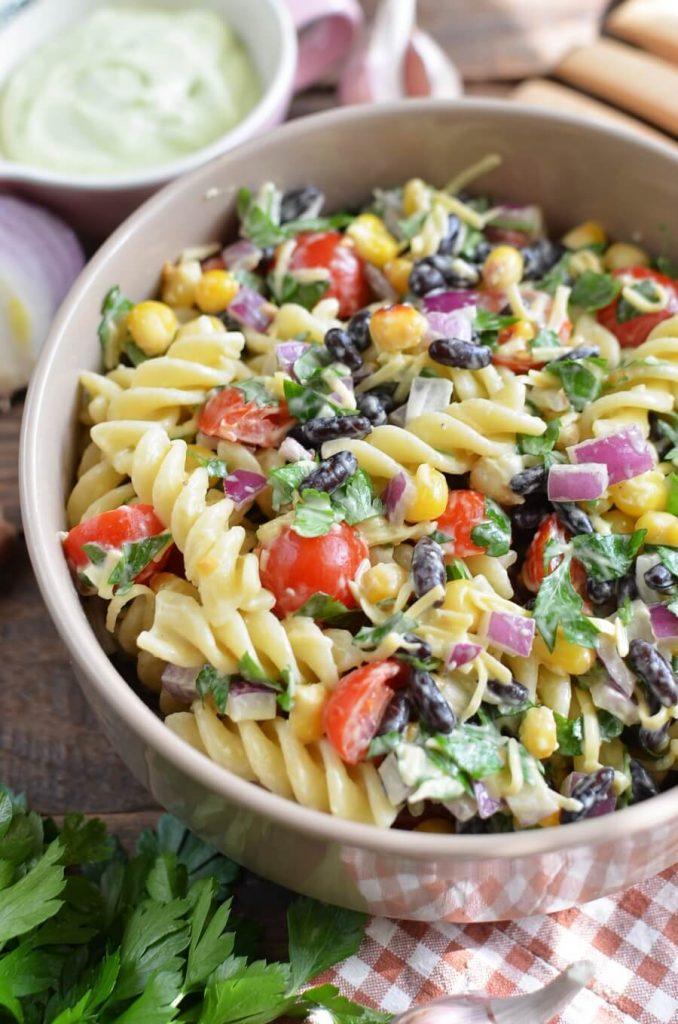 Delicious, creamy pasta salad