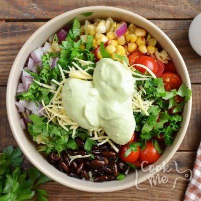 Mexican Pasta Salad with Creamy Avocado Dressing recipe - step 5