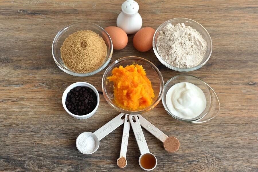 Ingridiens for One Bowl Greek Yogurt Pumpkin Bread