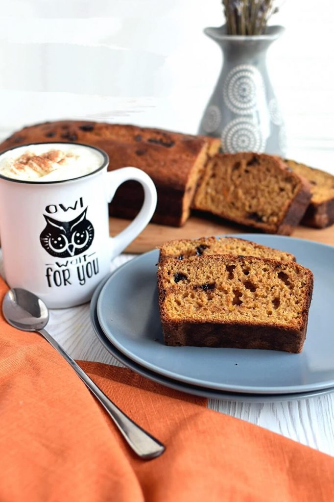 One Bowl Greek Yogurt Pumpkin Bread