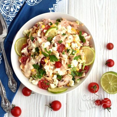 Orzo Chicken Salad with Avocado-Lime Dressing Recipe-How To Make Orzo Chicken Salad with Avocado-Lime Dressing-Delicious Orzo Chicken Salad with Avocado-Lime Dressing