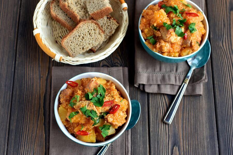 How to serve Pork and Quinoa Stew