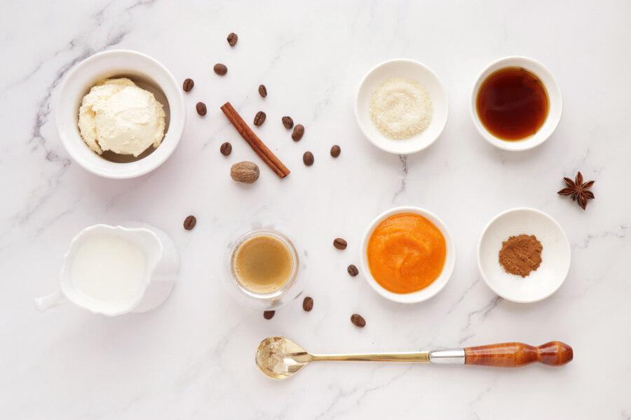 Ingridiens for Pumpkin Pie Latte