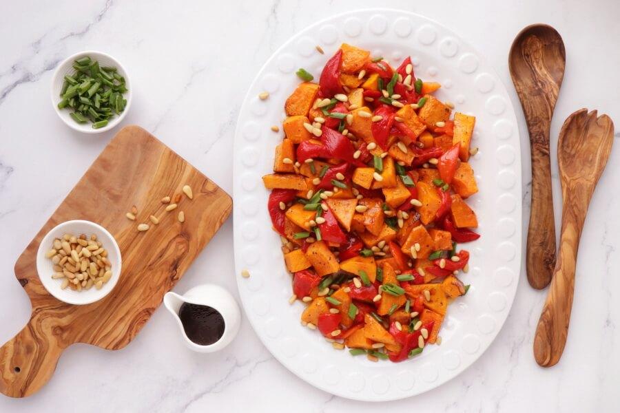How to serve Vegan Roasted Pumpkin Salad