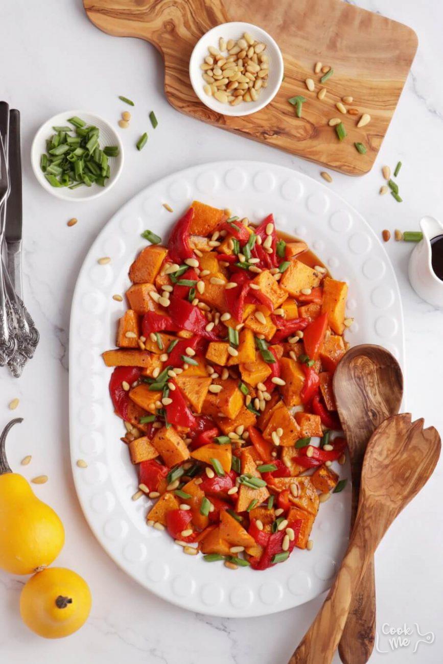 Vegan Roasted Pumpkin Salad