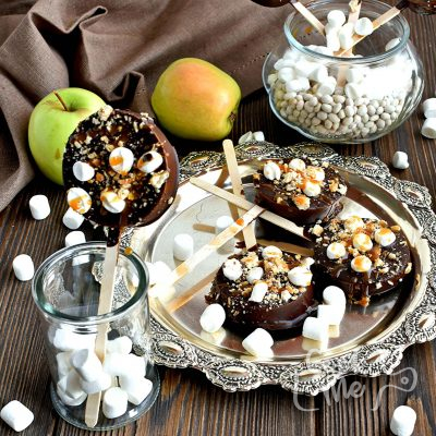 S'mores Apples Pops Recipe-How To Make S'mores Apples Pops-Delicious S'mores Apples Pops