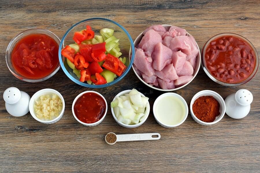 Ingridiens for Gluten Free South West Turkey Stew